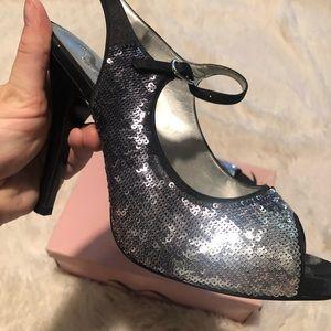 Nina Ombré Sequin Slingback Heels